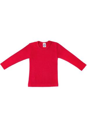Bluză copii lână şi mătase, roşu