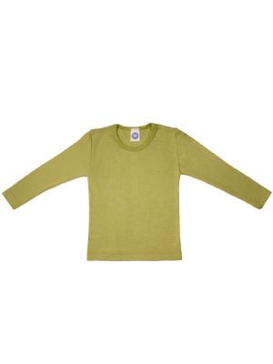 Bluză copii lână şi mătase, verde