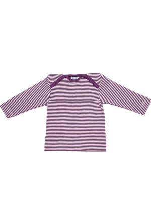 Bluză lână şi mătase, mov dungi