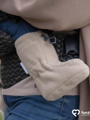 Botoşei pentru babywearing fleece Cappuccino, 6-18 luni