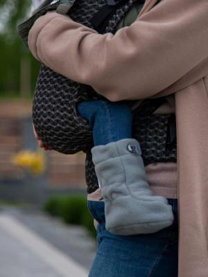 Botoşei pentru babywearing fleece Grey, 6-18 luni