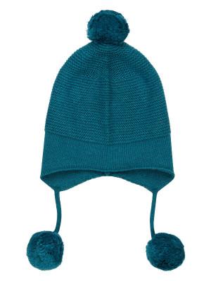 Căciulă tricotată bebe Marcel Petrol Blue