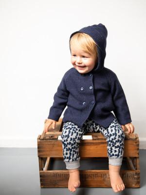 Cardigan cu glugă pentru bebeluşi Paul Navy