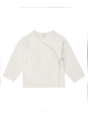 Cardigan tricotat subţire Picasso Ivory
