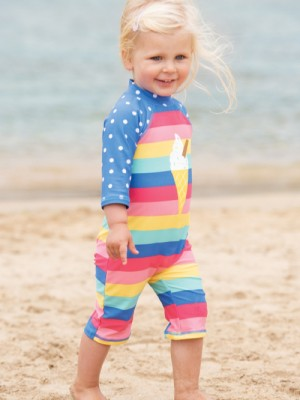 Costum de baie bebe UPF 50+ Bright Rainbow