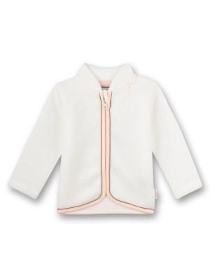 Jachetă fleece bebe White Family Stork