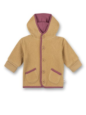 Jachetă fleece bumbac organic Biscuit