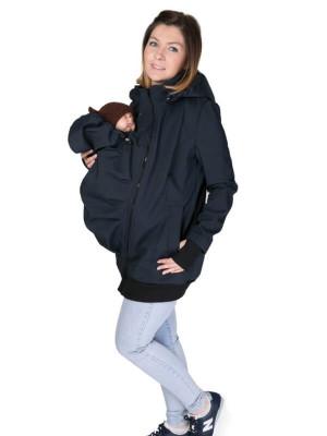 Jachetă pentru sarcină şi babywearing 3în1, din softshell, Navy