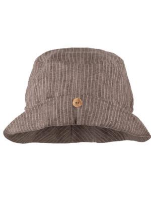Pălărie din in Button Brown