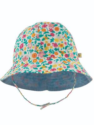 Pălărie reversibilă bebe Flowers