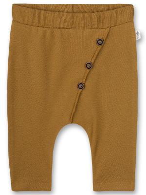 Pantaloni bebe Mustard, bumbac organic