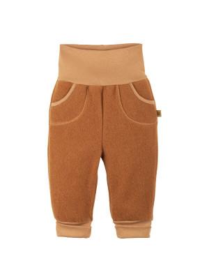 Pantaloni lână fleece Caramel