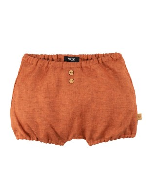 Pantaloni scurţi din in Dusty Orange