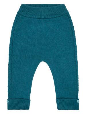 Pantaloni tricotaţi bebeluşi Pablo Petrol Blue