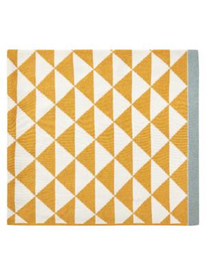 Păturică tricotată Zeus Yellow Ivory
