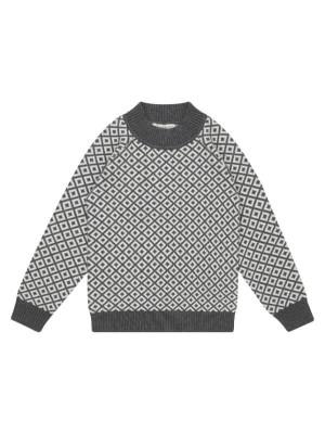 Pulover tricotat băieţi Kuruk Dark Grey