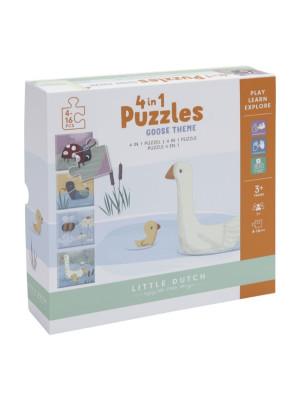 Puzzle 4 în 1 Goose