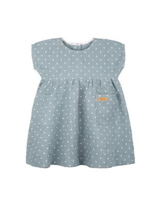 Rochie din in fetiţe Mint
