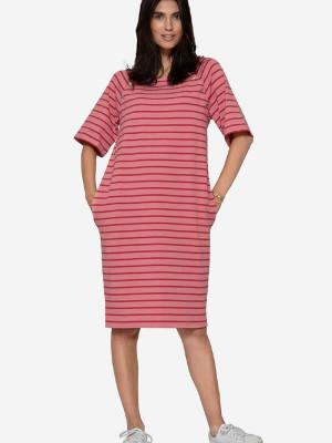 Rochie over-size pentru sarcină şi alăptare Selma, roz
