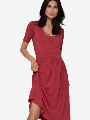 Rochie sarcină şi alăptare Ziga, roşie