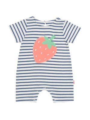 Salopetă scurtă bebe Strawberry