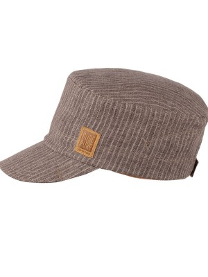 Şapcă din in copii Brown