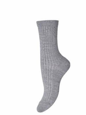 Şosete lungi lână rib Grey Melange