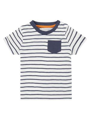 Tricou bumbac organic Odo Navy Stripes