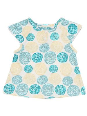 Tricou cu mânecă scurtă Lulu, imprimeu floral