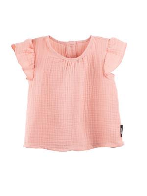 Tricou muselină dublă Coral Peach