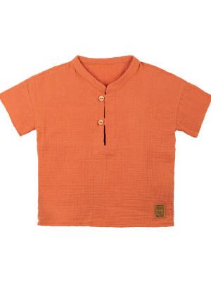 Tricou muselină dublă Papaya
