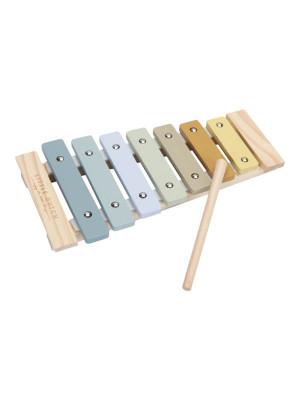 Xilofon jucărie lemn, albastru