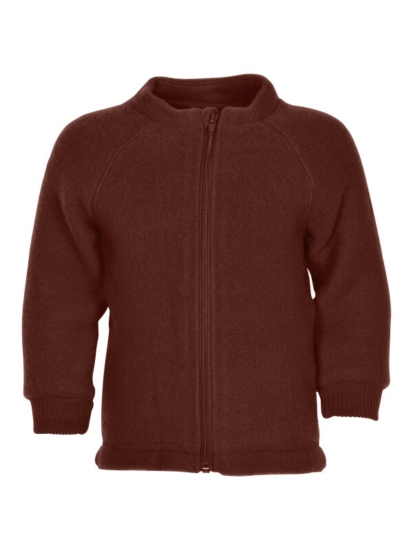 Jachetă copii lână fleece Madder Brown