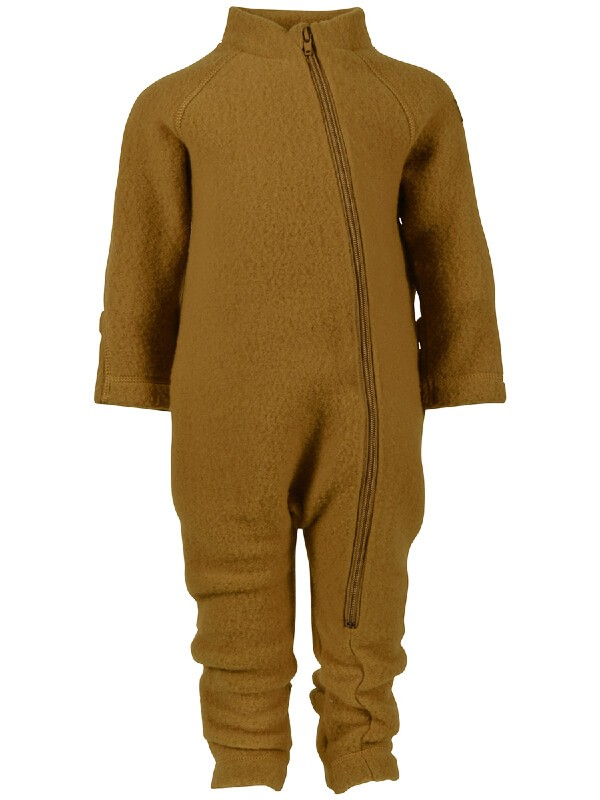 Overall cu mănuşi, lână fleece Golden Brown