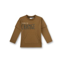 Bluză băieţi Be part of the change, Golden Brown