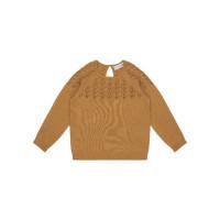 Bluză tricotată Honovi Caramel