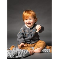 Cardigan tricotat bebe Janu Grey