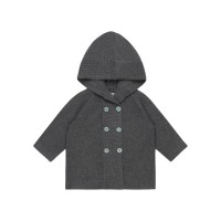 Cardigan tricotat bebeluşi Paul Dark Grey