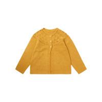 Cardigan tricotat fete Hurit Mustard