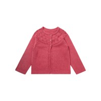 Cardigan tricotat fete Hurit Pink