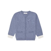 Cardigan tricotat Raul Denim Blue