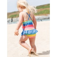 Costum de baie bebe UPF 50+ Bright Rainbow Stripe