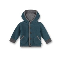Hanorac fleece bebe Sanetta Pure, albastru