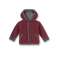 Hanorac fleece bebe Sanetta Pure, vişiniu
