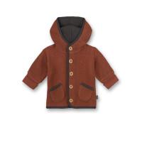 Jachetă fleece bumbac organic burnt brick