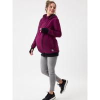 Jachetă pentru sarcină şi babywearing 3în1, din softshell, Plum
