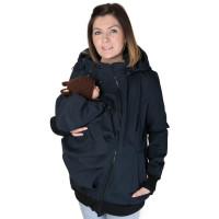 Jachetă sarcină/babywearing 5 în 1 Softshell Navy