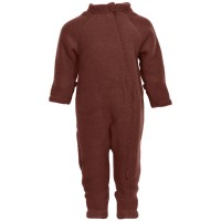 Overall cu mănuşi, lână fleece Madder Brown