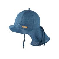 Pălărie ajustabilă din in Storm Blue