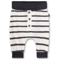 Pantaloni bumbac organic Sanetta Pure, dungi gri